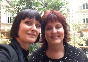 Corinne Drewery and Kim Greenhouse in London
