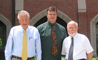 From left to right: Dr. Richard Hansler, Mr. Vilnis Kubulins, and Dr. Edward Carome